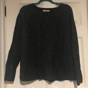 Xl silver and black sweater